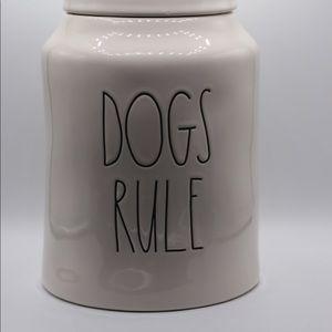 Rae Dunn Dogs Rule Canister